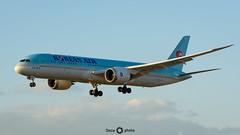Boeing 787-9 Dreamliner - Korean Air (Once Photo) Tags: boeing7879dreamliner boeing 787 plane takeoff sunset koreanair lebl bcn t1 prat dreamliner spotting spotter planespotting tamron nikon