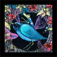 L'oiseau bleu (Jean-Louis DUMAS) Tags: bird oiseau bleu blue streetart streetlife art artistic artiste artist artistique artdelarue fleurs flower square carré abstract abstraction abstrait penture bordeaux