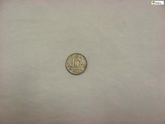 TM_IKD 144 - 10 öre, Sverige 1952 (Tidaholms Museum) Tags: mynt penning bankväsen coin banking 1952 1950talet silver rund