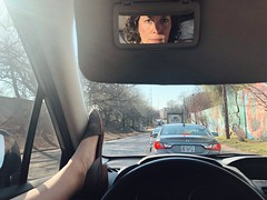 79/365 (moke076) Tags: 2019 365 project 365project project365 oneaday photoaday mobile cell cellphone iphone work commute long traffic signal light self selfie me portrait feet shoes car subaru reflection spring sevillasmith handmade bespoke flats dekalbave