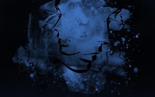 Обои абстракция, синий, черный, свет картинки на рабочий стол, фото скачать бесплатно
