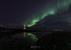 Reflection (Kjartan Guðmundur) Tags: iceland ísland arctic lighthouse nightscape reflection auroraborealis norðurljós ocean stars sky canoneos5dmarkiv sigma14mmf18art kjartanguðmundur