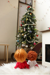 Christmas tree (kinmegami) Tags: christmastree christmas doll integrity toys miniature barbie roombox diorama 16 mattel kelly obitsu11 cupoche
