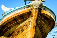 Wood Textures (George Plakides) Tags: boat wood painting planks timber nails filler bow bowrailing keel centreline