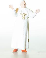 Little Red Shoes (SKAC32) Tags: whiteonwhite macromondays preiser pope pontiff extensiontubes canonef100mmf28macrousm