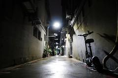 a quiet night alley (Sat Sue) Tags: gx7mk2 gx80 gx85 taiwan taipei electric scooter