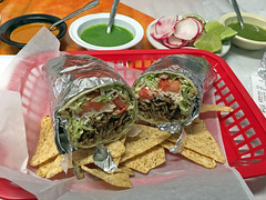 The burrito pastor with everything at Taco 46. (carpingdiem) Tags: food burrito indianapolis mexican 2019