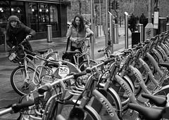Lots of bikes (Nikonsnapper) Tags: leica m10 cardiff street bw bikes pay popular