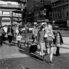It's a good day to be a princess (John Riper) Tags: johnriper street photography straatfotografie square vierkant bw black white zwartwit mono monochrome argentina buenosaires ba john riper rotterdam fuji fujifilm xt2 xf 18135 people girls