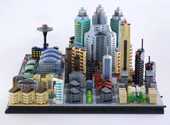 Lego microcity Meribia 80% (guitar hero78) Tags: moc microscale microcity lego legomoc legocity afol fujifilm fujinon xf60mm xe1