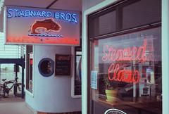 Stagnaro Bros. (poavsek) Tags: neon fish seafood bar restaurant wharf film kodak medalist ektar california