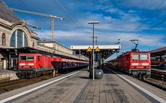 143 358-0 143 298-8 DB Regio Nuremberg Hbf 31.01.19 (Paul David Smith (Widnes Road)) Tags: 1433580 1432988 db regio nuremberg hbf 310119 br143 143 trabbi