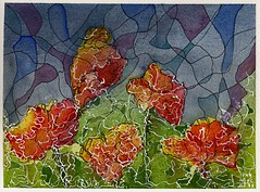 Poppies 9 (Pax30091) Tags: poppies arches aquarelle acuarela flower inkt