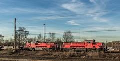 28_2019_02_14_Gelsenkirchen_Bismarck_1265_027_&_016_DB_mit_Brammenzug ➡️ Herne_Abzw_Crange (ruhrpott.sprinter) Tags: ruhrpott sprinter deutschland germany allmangne nrw ruhrgebiet gelsenkirchen lokomotive locomotives eisenbahn railroad rail zug train reisezug passenger güter cargo freight fret bismarck db ccw de efm eh eloc hctor rpool pkpc spag 323 0077 0275 0632 1225 1265 1266 1275 3294 6145 6156 6185 6186 6189 6241 9123 9124 captrain ecr ell hectorrail lotos setg spitzke museumszug schrottzug logo natur outdoor graffiti wildgänse flugzeug sonnenuntergang airbus 380