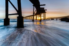 Sunrise from Catherine Hill Bay NSW Australia (600tom) Tags: streakingcloids clouds milkywater nikonphotography nikon ocean beautiful waves earlylight longexposure australia sunrise jetty