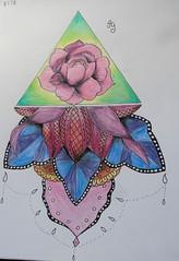 dessin Mandala (pepette.flaux) Tags: draw fleur couleurs dessin
