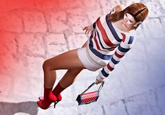#292 (dolceluna_myoo Photographer) Tags: woman sl digitalart bloggers secondlife ison maitreya lelutka doux earrings dolls girls stripe image portrait model fashion elegance moncadaparis