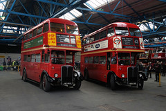 Barking Garage (gooey_lewy) Tags: aec regent 3 iii rt 80 40 years barking garage running day meeting open london double decker bus transport old red 786 jxc 149 2293 kgu 332 62 creekmouth becontree chadwell heath