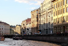 St Petersburg Water Front (1) (Mahmoud R Maheri) Tags: saintpetersburg stpetersburg russia oldtown buildings city water river waterfront