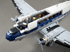 Douglas DC-3 (Vaionaut) Tags: douglas dc3 c47 dakota c47skytrain lego moc aircraft airplane