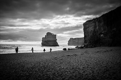 P2252128 Gables to 12 Apostles-2 (Dave Curtis) Tags: victoria greatoceanroad 12 apostles blackandwhite 2014 australia em5 greatoceanwalk omd olympus places september