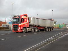 IRZ 4343 - Dunlop Transport Ballymena County Antrim (Jonny1312) Tags: lorry truck volvo fh4 fh540 tipper volvofh4 belfast belfastdocks ballymena