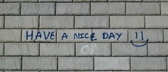 Have a nice day (David Sebben) Tags: graffiti blocks illinois positive haveaniceday