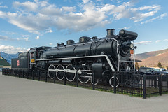 CN Mountain Locomotive 6015 (anthsnap!) Tags: canada canadianrockies jasper alberta locomotive cnmountainlocomotive train steamtrain