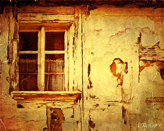 Anyone who has cloudy windows, everything seems gray. (ren.art) Tags: art creative window edited painting ancient house