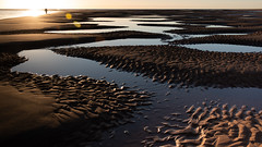 Sunrise at the Beach (PeskyMesky) Tags: aberdeenshire newburgh newburghbeach sunrise sunset water sand beach sea scotland ocean pattern canon canon5d eos winter february flickr 2019