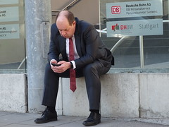 unlucky day ?i feel it :( (poolloop11) Tags: bussines oh men unlucky day feel it be man candid public black white red boss