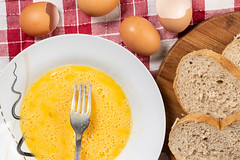 Flat lay above Eggs in the plate and Bread slices (wuestenigel) Tags: egg natural nature cooking slice grain brown background chicken cook bird farm broken protein organic wheat eggshell bowl closeup breakfast white nutrition yellow healthy wood diet easter isolated food meal ingredient yolk wooden raw lunch crust bread fresh loaf table shell 2019 2020 2021 2022 2023 2024 2025