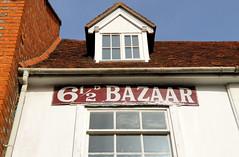 Bazaar (R~P~M) Tags: thame town oxon oxfordshire england uk unitedkingdom greatbritain sign enamel vitreousenamel