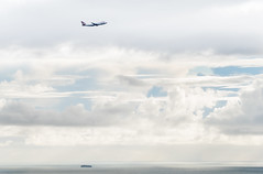 ba 284 climbs out over the storm (pbo31) Tags: bayarea california nikon d810 color march 2019 boury pbo31 sanfrancisco over view sanbrunomountain park sanmateocounty sky sanfranciscointernational sfo airport airline plane aviation flight travel britishairways boeing 747 takeoff departure