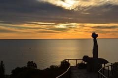 DSC_9739 setting sun, Kingston Park, South Australia (johnjennings995) Tags: kingstonpark sunset sun southaustralia australia tjilbrukemonument gulfstvincent