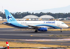 XA-PPY Interjet Sukhoi SSJ (twomphotos) Tags: plane spotting mmmx mex evening sunset 23r 23l rwy interjet sukhoi ssj bestofspotting