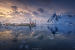 winter reflections (ALFONSO1979 ) Tags: landscape colors sunset sunrise lofoten islas ice flickr new fun orange pink winter blue photo photographers summer water scape sea filters nisi world nature great really tree