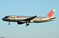 NIKI Airbus A320-214 OE-LEE / BCN (RuWe71) Tags: nikiluftfahrtgmbh hgnly niki nikilauda austria vienna wien airbus airbusa320 a320 a320200 a320214 airbusa320200 airbusa320214 oelee msn2749 fwwdb reggae barcelonaairport barcelonaelprat barcelonaelpratairport elpratairport elpratdellobregat aeropuertodebarcelona bcn lebl narrowbody twinjet landing dawn sunrise