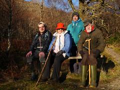 Merry, Ulla, Isaac & Dad, Glasdrum National Nature Reserve (Niall Corbet) Tags: scotland argyll nnr nationalnaturereserve glasdrum