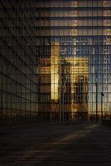 BNF au couchant (Edgard.V) Tags: paris parigi bibliothèque library biblioteca sunset por de sol tramonto reflets reflexo reflexion architecture arquitetura