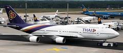 Boeing 747-4D7 HS-TGJ (707-348C) Tags: frankfurtairport eddf fra frankfurt airliner jetliner boeing747 boeing passenger 2009 oldcolours hstgj thaiairwaysinternational tha thaiairways thai germany b744