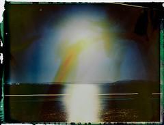 Night 4 (FP100c negative) (mmartinsson) Tags: 2018 night modelp instantfilm fujifilm 127mm negativescan negative longexposure mamiyasekor scan mamiyasekorp mamiyauniversal fp100c bleached polaroid epsonperfectionv700 film analoguephotography carloforte sardegna italien it