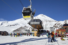 "Elbrus, skiing. ""Mir"" (world) st. (azh565) Tags: elbrus mountain mount skiing 5642 landscape nature ngc snow scyline d2x nikon"