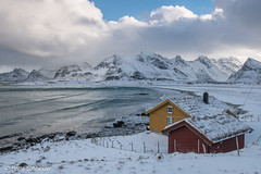 Ytresand beach, Flakstadøya, Lofoten (Petra Schneider photography) Tags: flakstadøya ytresand lofoten lofotenislands beach winterday winter winterstimmung winterlandschaft winterlandscape winterlofoten snow mountains norge norway nordnorwegen northernnorway nordland