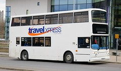 Travel Xpress Coach Hire, Baildon, Shipley KV02USJ at Huddersfield Leisure Centre with a schools contract. (Gobbiner) Tags: trident travelxpress kv02usj alx400 huddersfield alexander dennis connex ta93 abelliolondon 9793 shipley