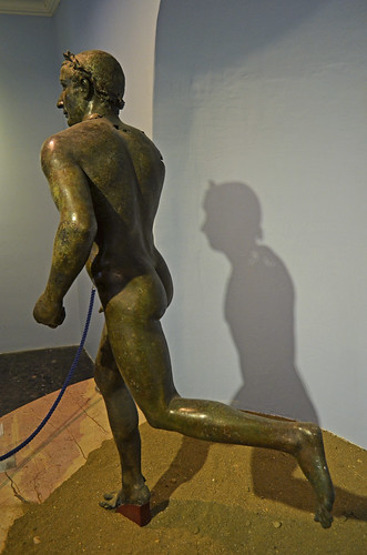 Hellenistic bronze statue of a running athlete, 3