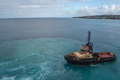 20190310 3 Barbados (Wes Albers + Becky Albers) Tags: travel vacation cruise celebritycruises celebritysilhouette port dock tugboat caribbean atlanticocean barbados bridgetown dawn