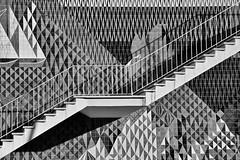 Infante Santo - Maria Keil (RobertLx) Tags: monochrome bw mariakeil azulejo mural tiles stairs infantesanto lisbon lisboa portugal city street art streetart 64 travel architecture europe