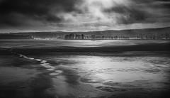 Last touch of winter (Tore Thiis Fjeld) Tags: norway oslo nordmarka outdoors nature lake winter mono bw ice melting sun clouds mist fog contrast tracks nikon nikonz7 sigma50mmf14dghsmart