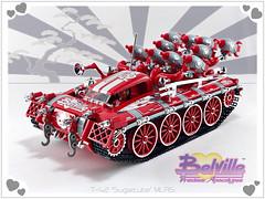 Belville T-42 'Sugarcube' MLRS (D-Town Cracka) Tags: belville lego t 42 tank missile rocket launcher stable wars classic sugarcube